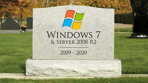 Windows 7 end of life tombstone